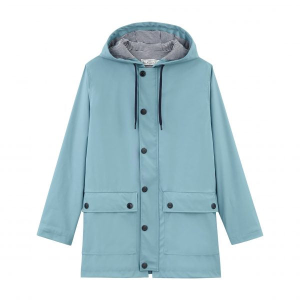 LIGHT BLUE WAXED RAINCOAT