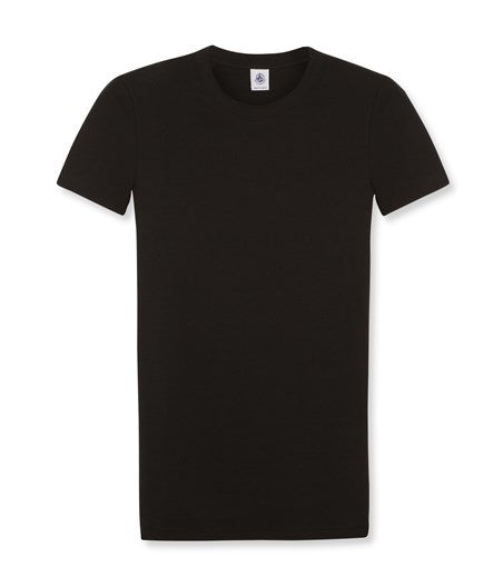 BLACK ROUND NECK COTTON T-SHIRT