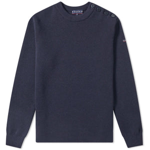 PULL WOOL 4 BUTTONS NAVY