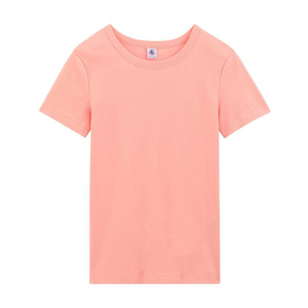 PINK ROUND NECK COTTON T-SHIRT