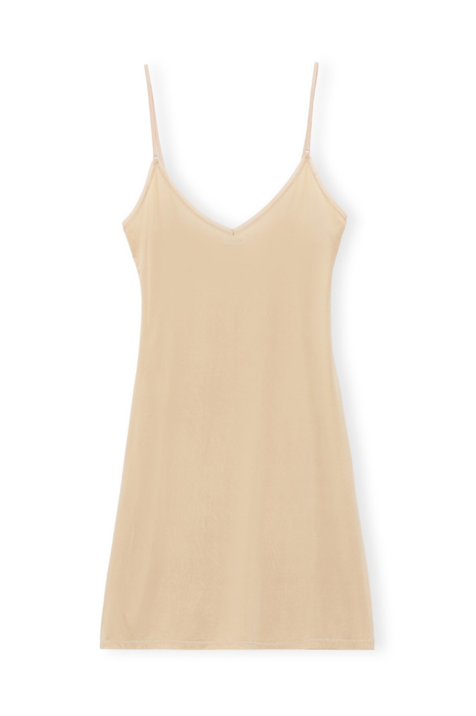 SLIP DRESS RAYON TANNIN