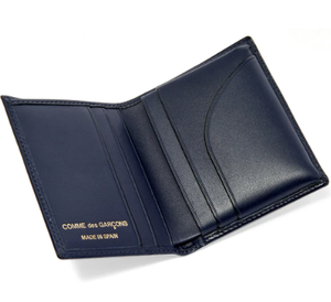 FOLDOVER CARD WALLET NAVY