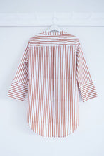 Load image into Gallery viewer, BOYFRIEND SHIRT TERRACOTA STRIPES