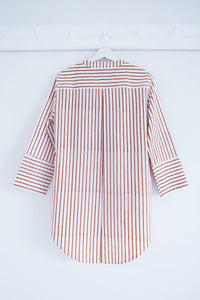 BOYFRIEND SHIRT TERRACOTA STRIPES