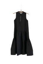 Load image into Gallery viewer, RUFFLE DRESS BLACK
