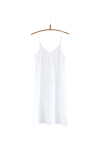 WHITE COTTON SLIP