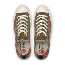 Load image into Gallery viewer, KHAKI LOW TOP MULTI HEART CONVERSE