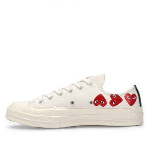 WHITE LOW TOP MULTI HEART CONVERSE