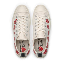 Load image into Gallery viewer, WHITE LOW TOP MULTI HEART CONVERSE