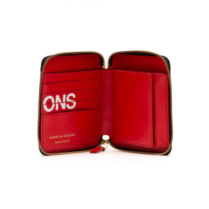 ZIP AROUND WALLET HUGE LOGO RED