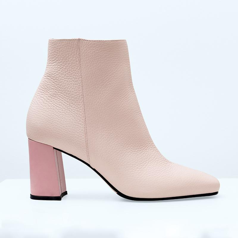 monica-beige-leather-pink-chunky-heel-boot-roccamore