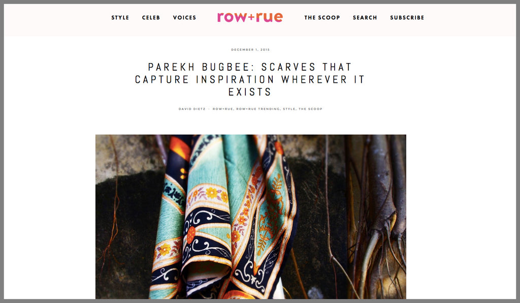 Parekh Bugbee Hand-printed silk scarves and shawls