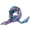 Ista :: Hand printed crepe silk women's floral pasley print scarf - Parekh Bugbee