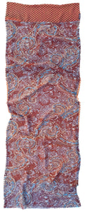 Amaya double layered silk stole - Parekh Bugbee