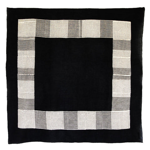 Bandhan :: Hand block printed checks design unisex cotton scarf - Parekh Bugbee
