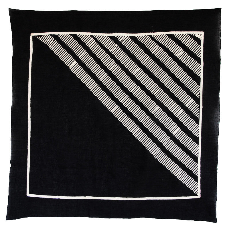 Bandhan :: Hand block printed stripe design unisex cotton scarf - Parekh Bugbee