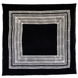 Bandhan :: Hand block printed temple triangle design unisex cotton scarf - Parekh Bugbee