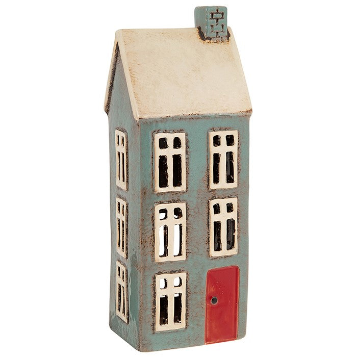 Village Pottery Tall Dark Grey House | GORGEOUS GEORGE