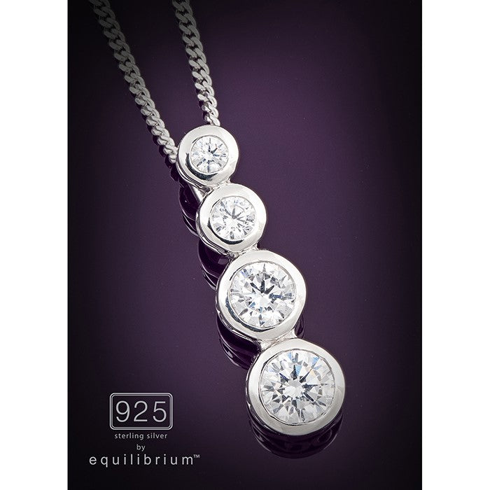 Equilibrium 925 Silver Necklace | GORGEOUS GEORGE