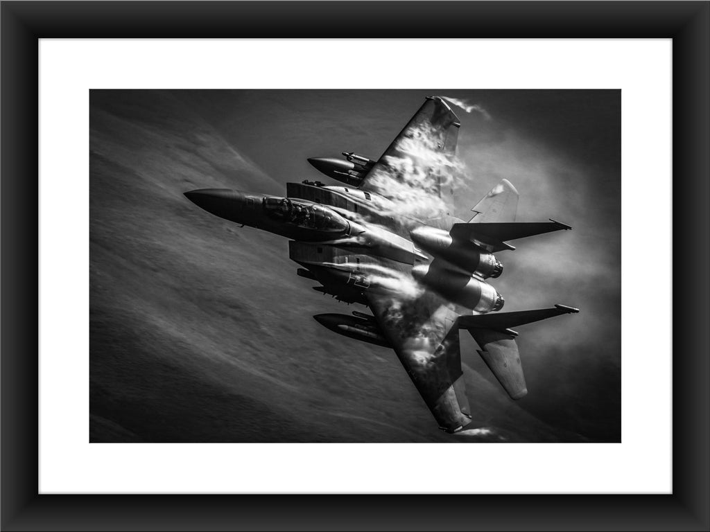 Mounted USAF F-15E Print - GORGEOUS GEORGE