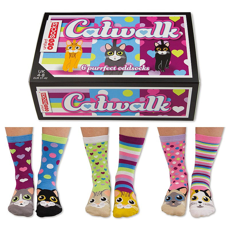 Catwalk Six Purrfect Odd Socks | GORGEOUS GEORGE