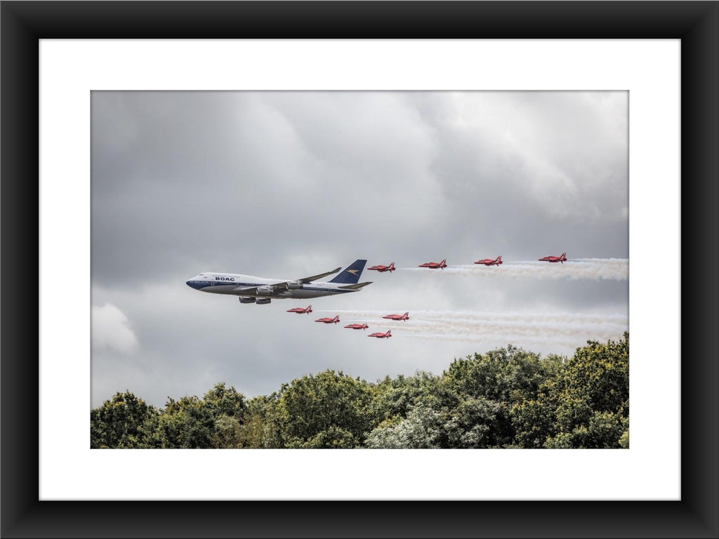 Mounted BOAC Tribute Print - GORGEOUS GEORGE