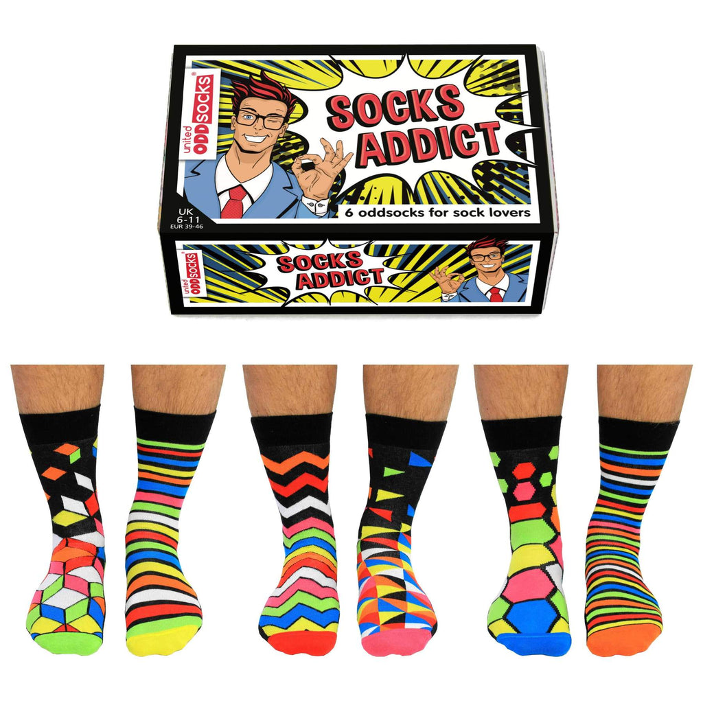 Socks Addict Six Odd Socks | GORGEOUS GEORGE