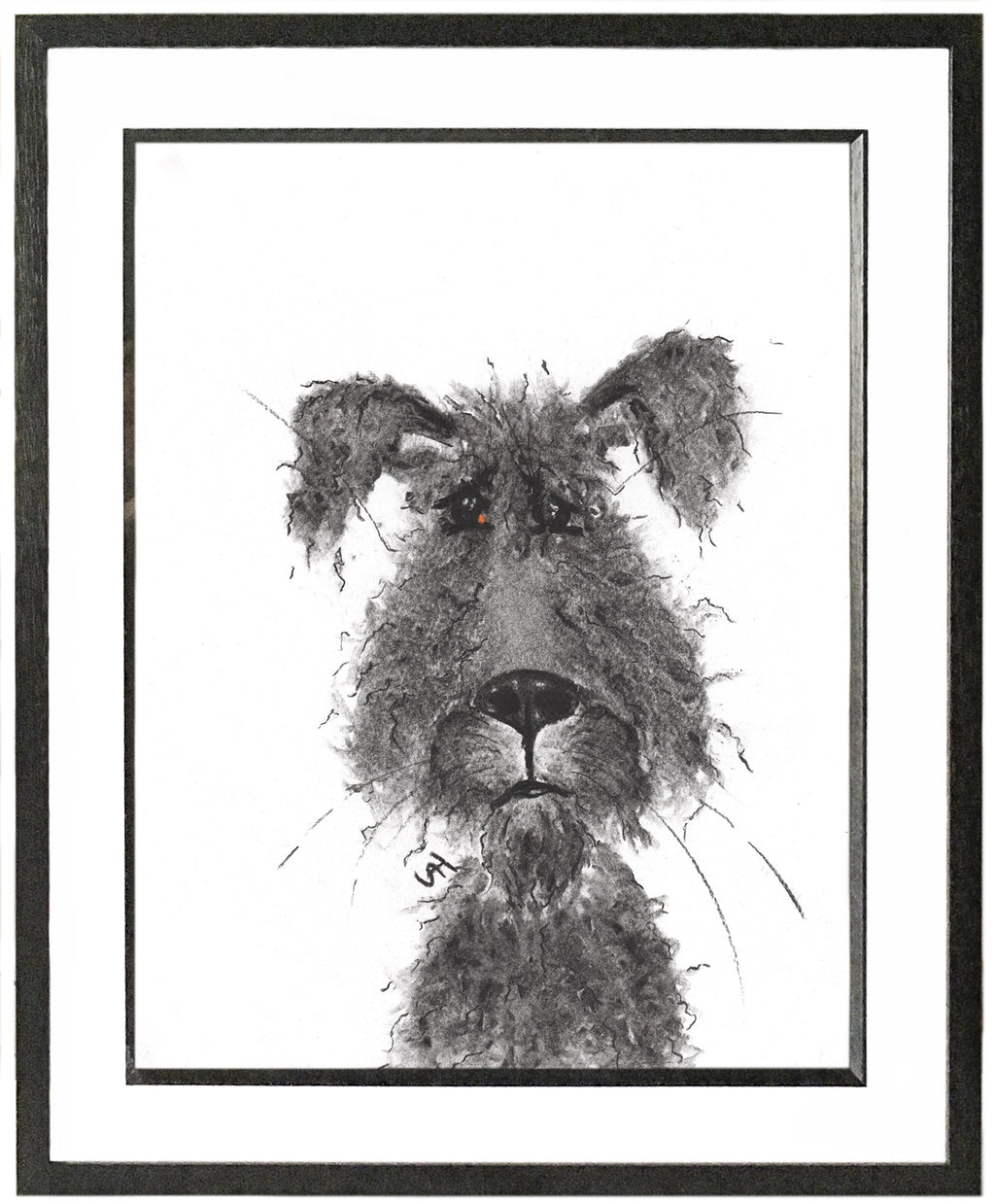 Benji Framed Shaggy Dog Illustration | GORGEOUS GEORGE