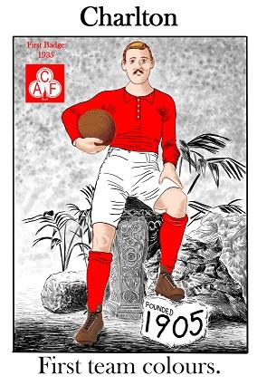 Charlton First Team Colours Greeting Card | GORGEOUS GEORGE