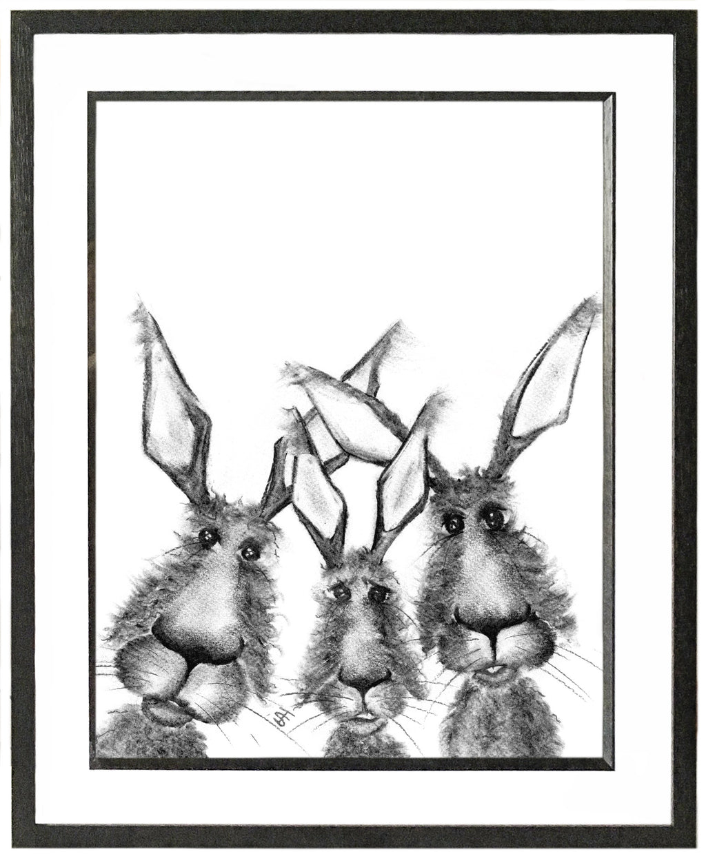 Harry Louis and William Framed Hare Illustration | GORGEOUS GEORGE