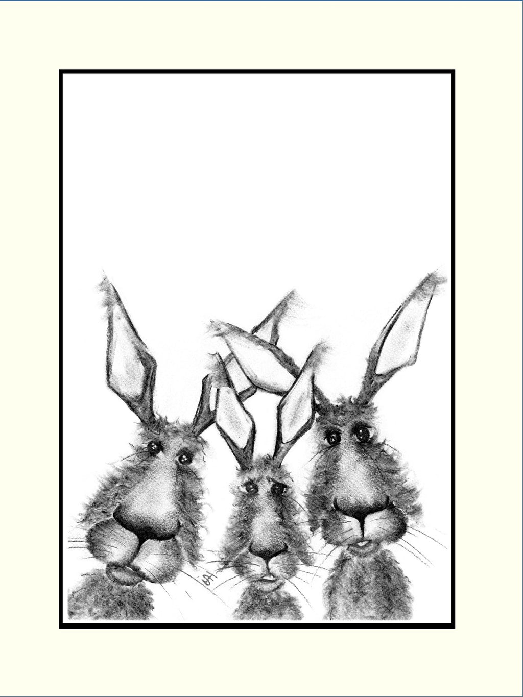 Harry Lewis & William Mounted Hare Print | GORGEOUS GEORGE