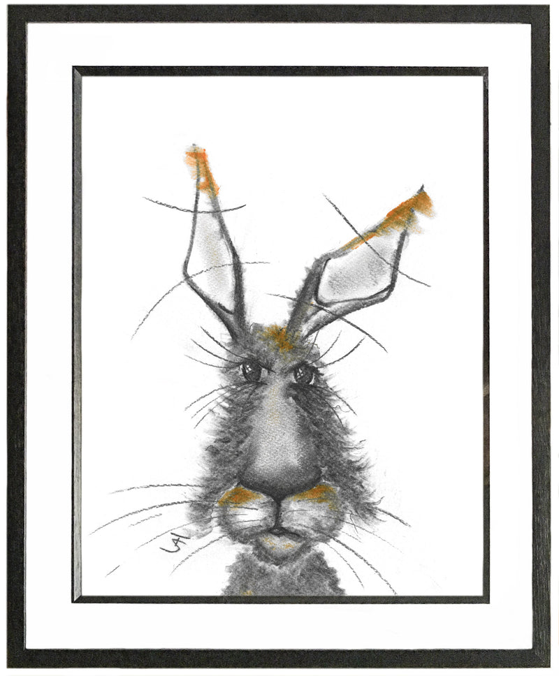 Hector Framed Hare Illustration | GORGEOUS GEORGE