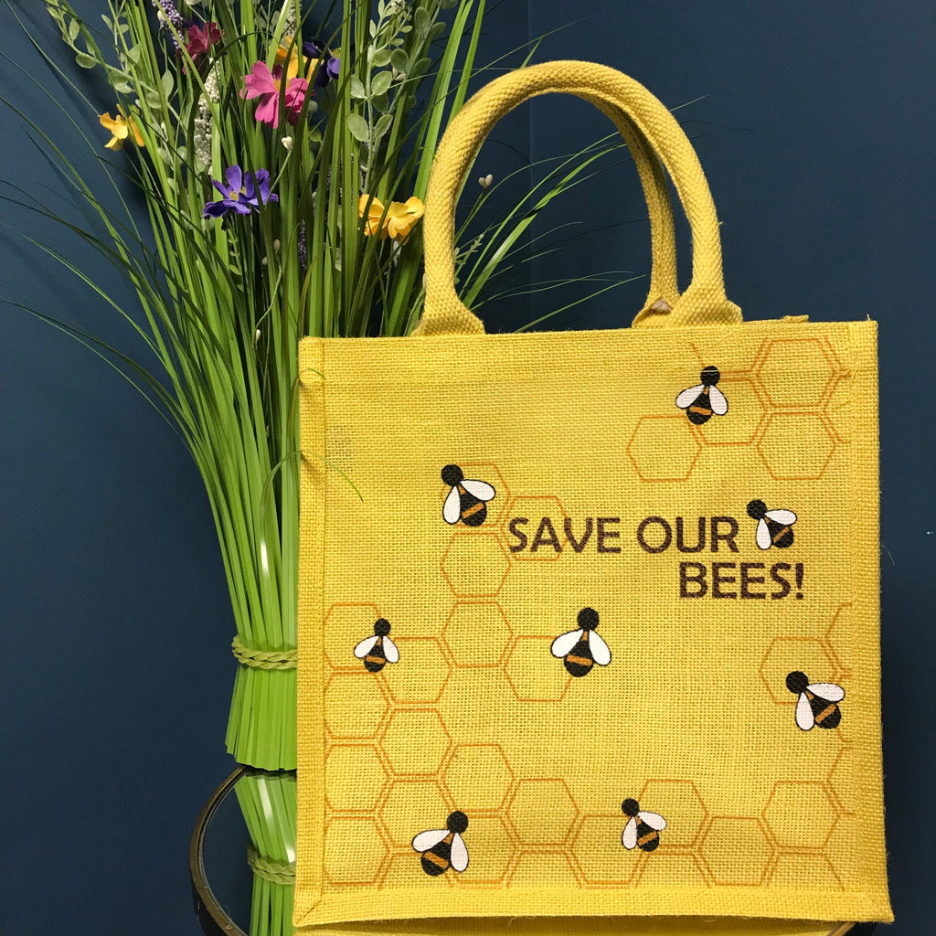 Save Our Bees Jute Bag | GORGEOUS GEORGE