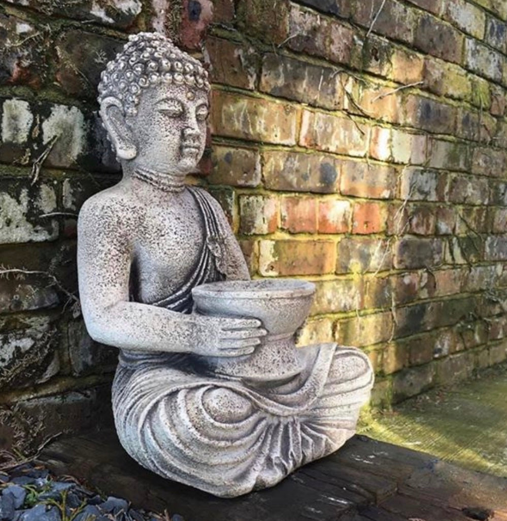 Stone Sitting Buddha (Local delivery only) - GORGEOUS GEORGE