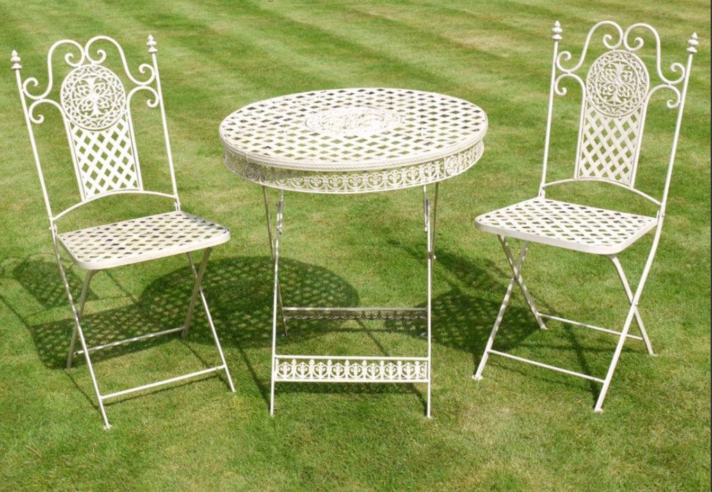 French Style Metal Table & Two Chairs (Local delivery only) | GORGEOUS GEORGE