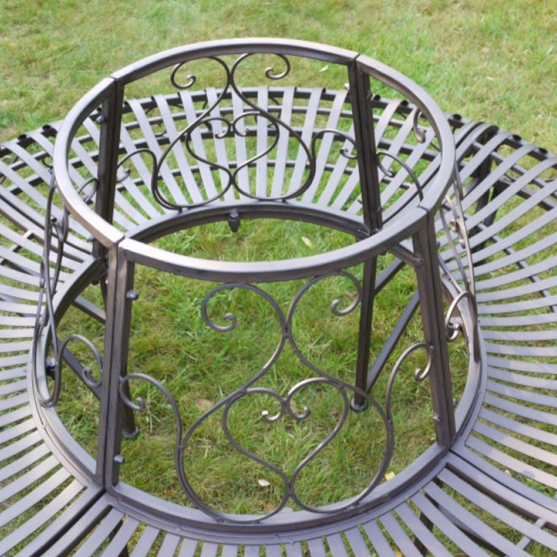Metal Garden Round Tree Bench   (Local delivery only) | GORGEOUS GEORGE
