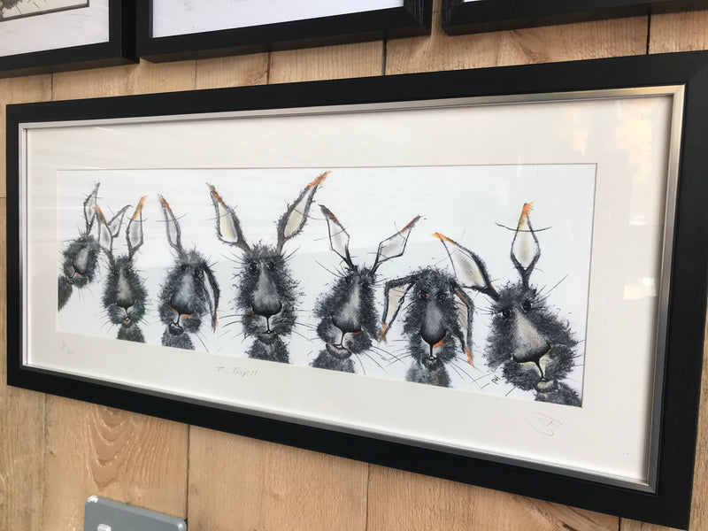 The Trip II Framed Hare Illustration | GORGEOUS GEORGE