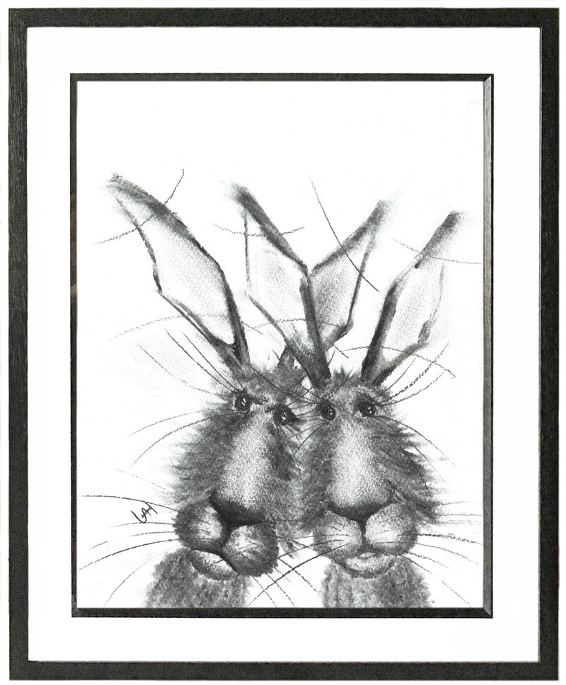 Jeffery & Richard Framed Hare Illustration | GORGEOUS GEORGE