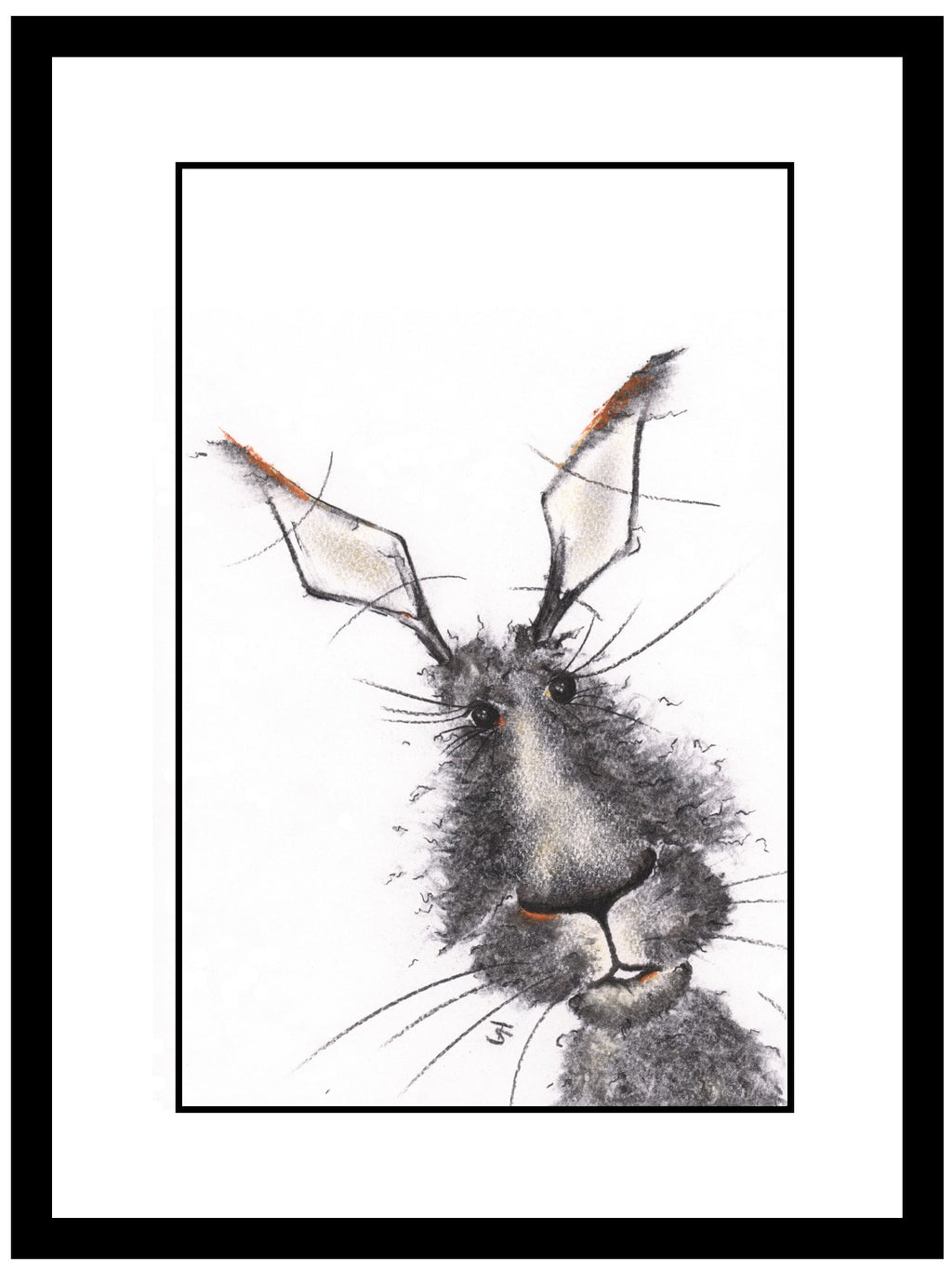 Patch Framed Hare Illustration | GORGEOUS GEORGE
