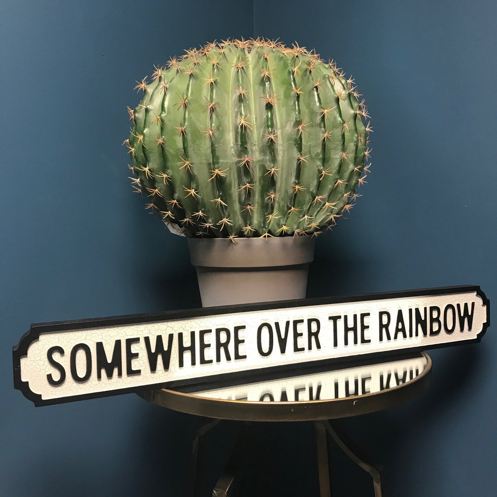 Somewhere Over the Rainbow Wooden Street Sign | GORGEOUS GEORGE