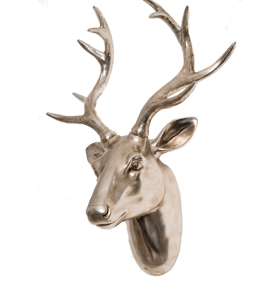 Champagne Colour Stags Head | GORGEOUS GEORGE