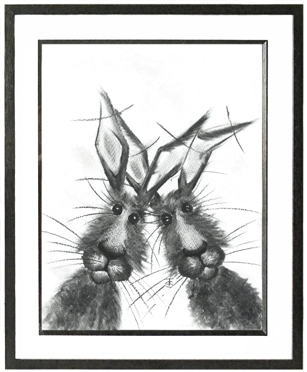 Spike & Marlow Framed Hare Illustration | GORGEOUS GEORGE