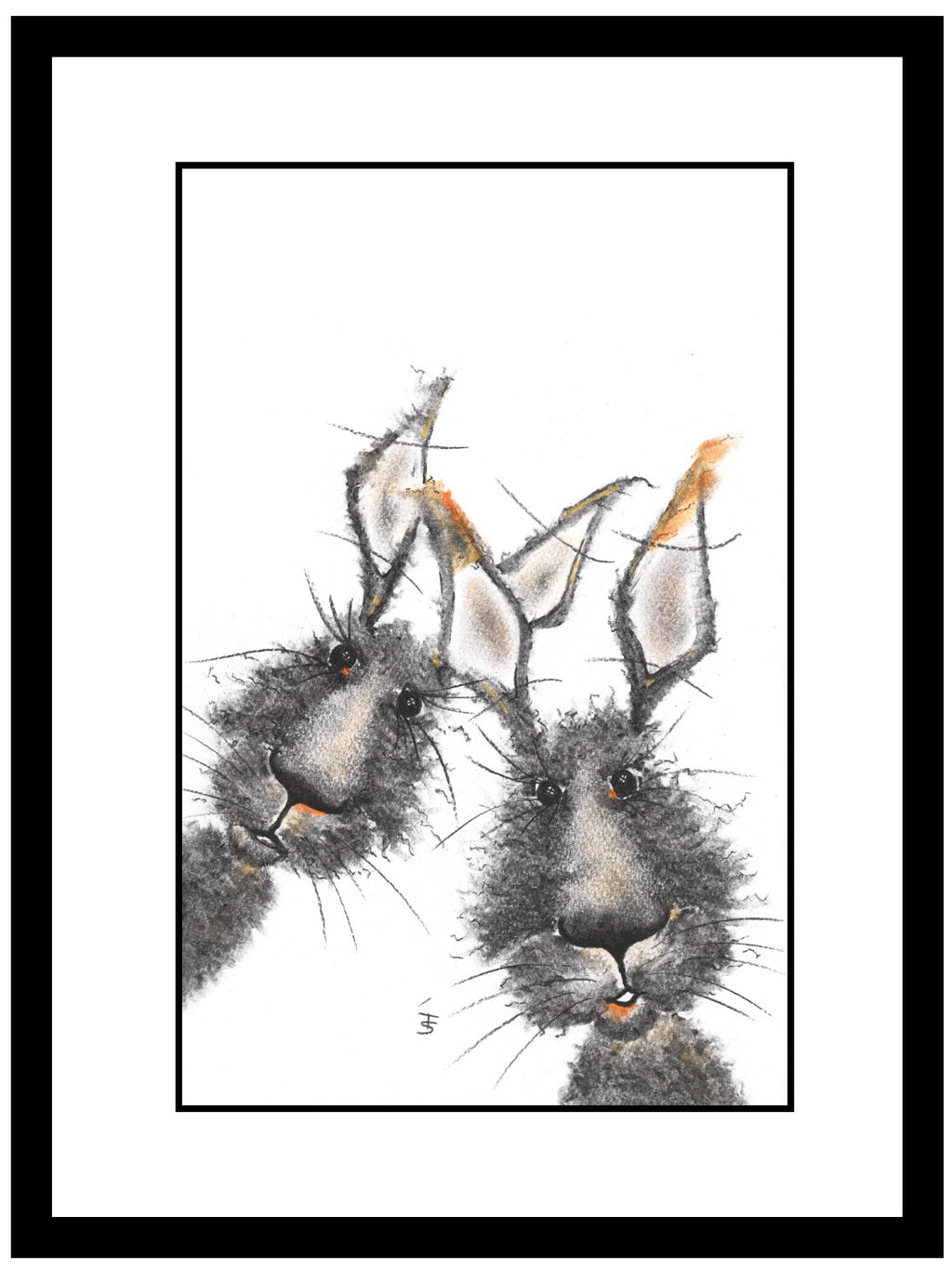 Walter & Rufus Framed Hare Illustration | GORGEOUS GEORGE
