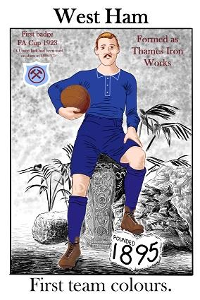 West Ham First Team Colours Greeting Card | GORGEOUS GEORGE