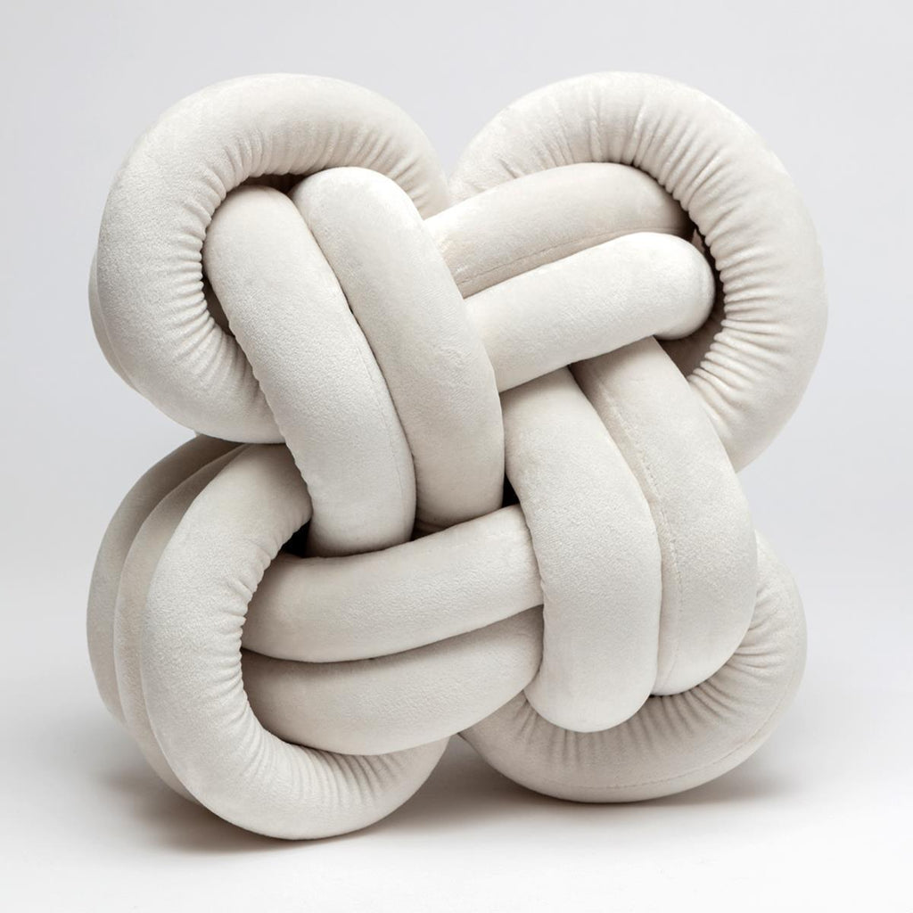 Cream Soft Knot Cushion - GORGEOUS GEORGE