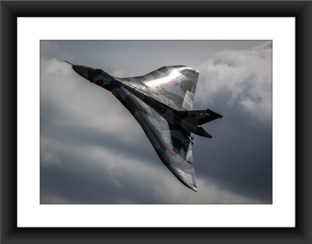 Mounted Vulcan XH558 Colour Print - GORGEOUS GEORGE