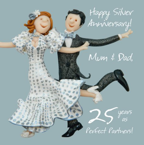 Happy Silver Anniversary Mum & Dad | GORGEOUS GEORGE