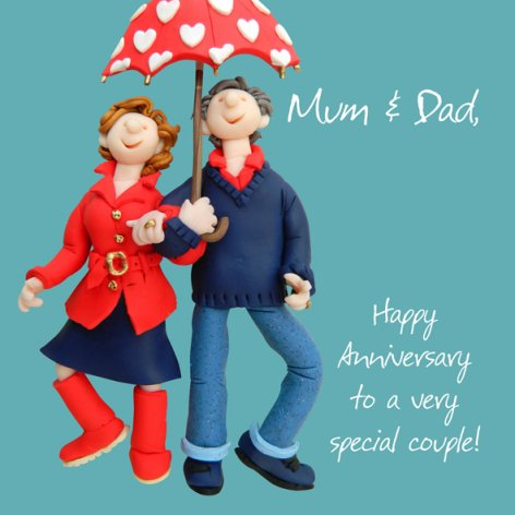 Happy Anniversary Mum & Dad | GORGEOUS GEORGE