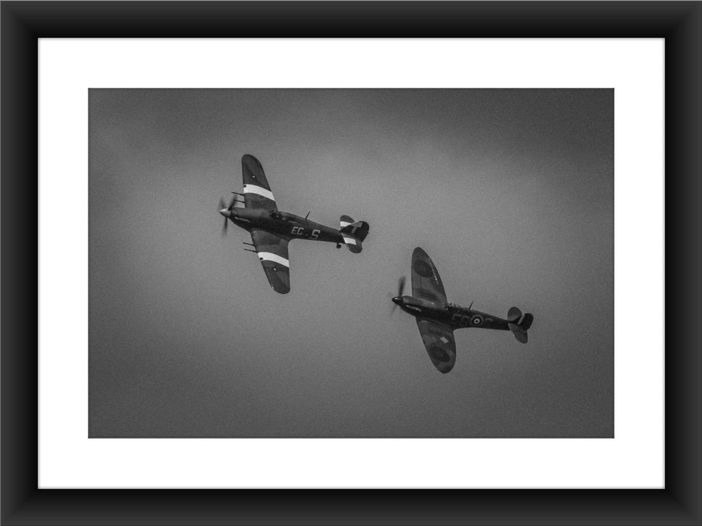 Mounted BBMF Spitfire & Hurricane Print | GORGEOUS GEORGE