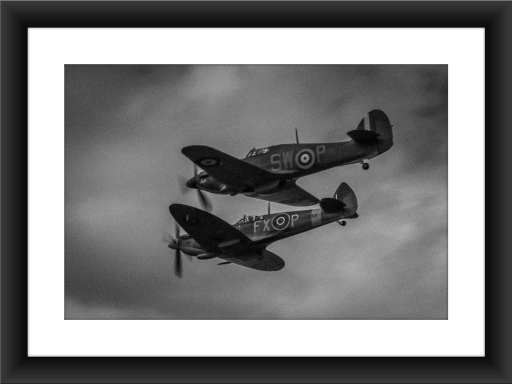 Mounted Spitfire & Hurricane Print - GORGEOUS GEORGE